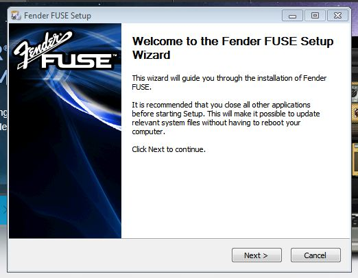 FUSE install Win1