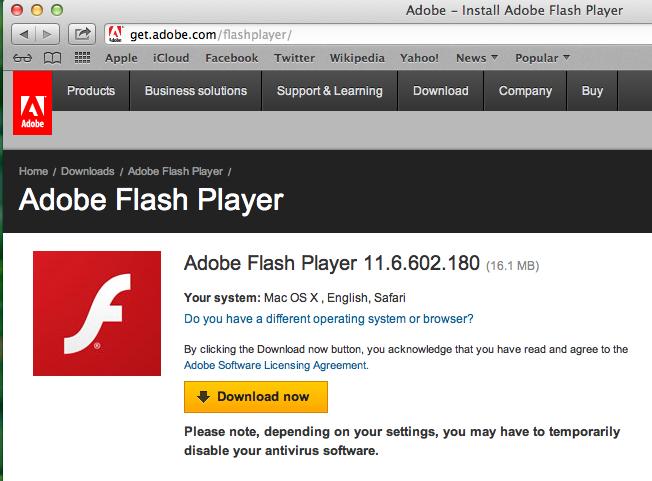 adobe flash player update for windows