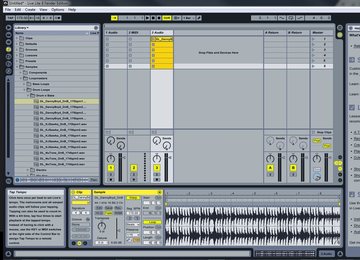 ableton live lite 8 fender edition. Black Bedroom Furniture Sets. Home Design Ideas